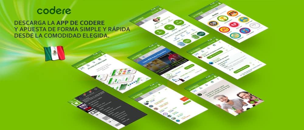 La app de Codere es una herramienta muy útil con la cual podrás jugar de forma segura y rápida.