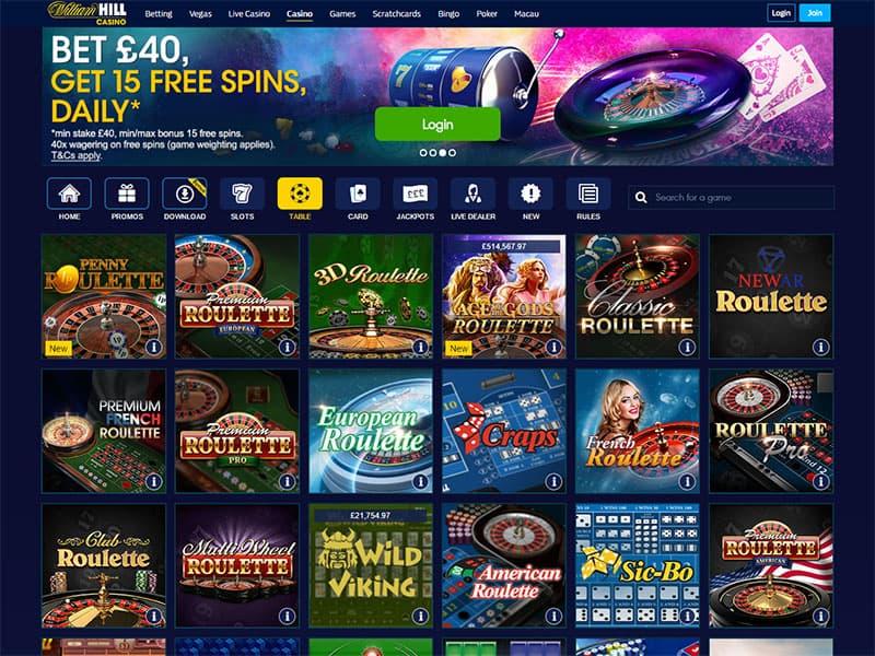 William Hill Live Casino Download